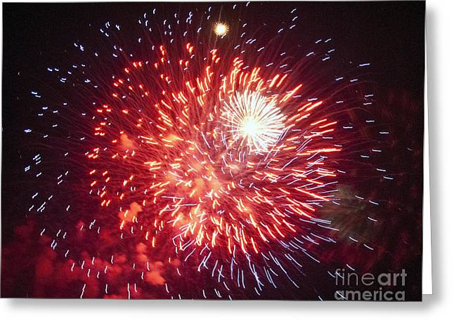 Fireworks 1 Greeting Card by Leslie Cruz