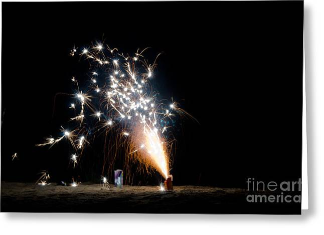 Fireworks 10 Greeting Card by Cassie Marie Photography