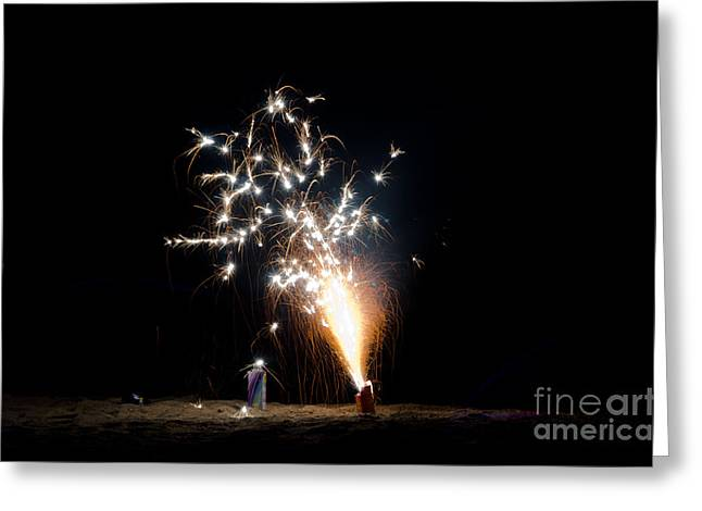 Fireworks 11 Greeting Card by Cassie Marie Photography