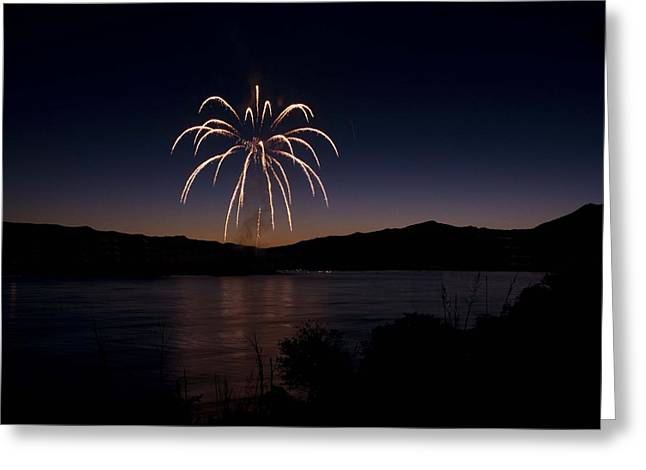 Greeting Card featuring the photograph Fireworks 11 by Sonya Lang