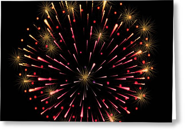 Fireworks 2 Greeting Card by Ben Yassa