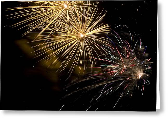 Fireworks 20 Greeting Card by Sandy Swanson