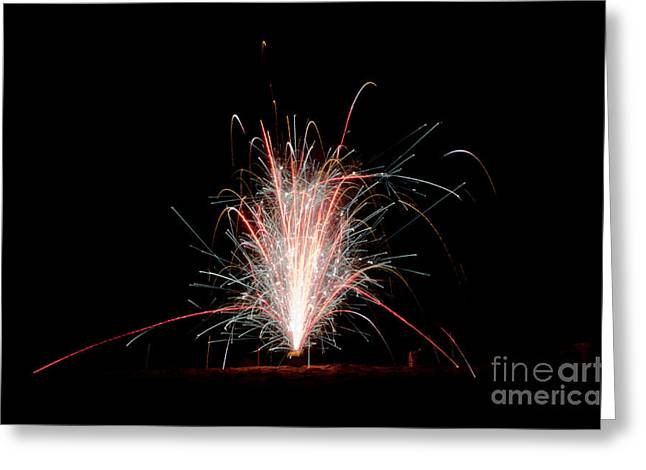 Fireworks 24 Greeting Card by Cassie Marie Photography