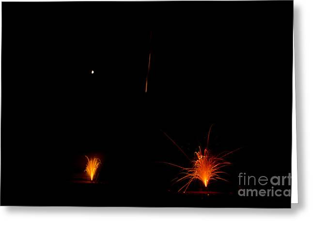 Fireworks 27 Greeting Card by Cassie Marie Photography