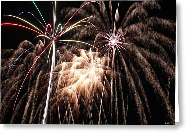 Fireworks 3 Greeting Card by Andrew Nourse