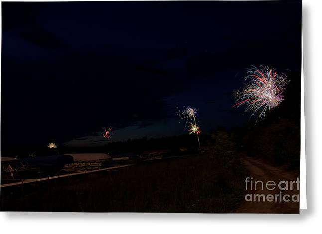 Fireworks 34 Greeting Card by Cassie Marie Photography