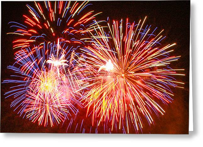 Fireworks 4th Of July Greeting Card by Robert Hebert