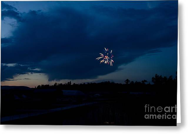 Fireworks 5 Greeting Card by Cassie Marie Photography