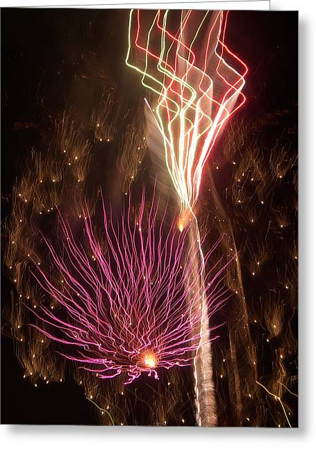 Fireworks Greeting Card by Aimee L Maher Photography and Art Visit ALMGallerydotcom