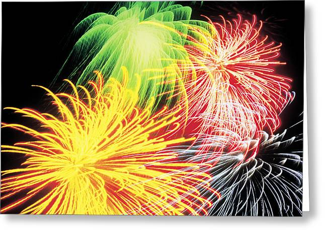 Fireworks Greeting Card by Benelux Press B.V.