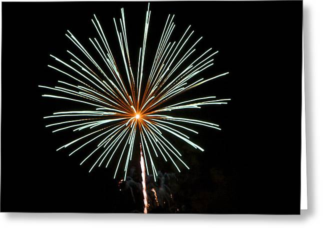 Fireworks Bursts Colors And Shapes 2 Greeting Card by SC Heffner