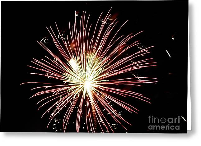 Greeting Card featuring the digital art Fireworks By Aclay by Angelia Hodges Clay