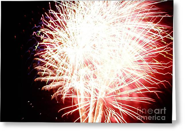 Greeting Card featuring the digital art Fireworks By Angela by Angelia Hodges Clay