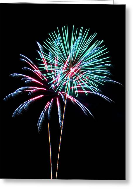 Fireworks Greeting Card by Darrin Doss