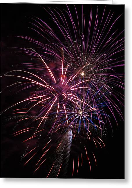 Fireworks Display  Astoria, Oregon Greeting Card