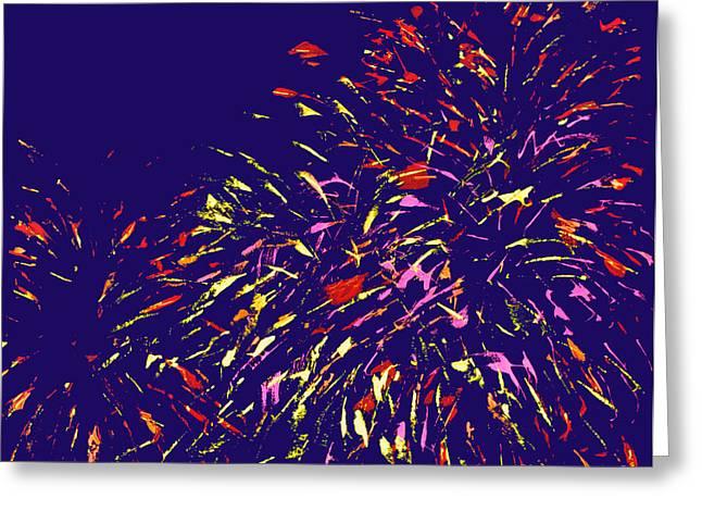 Fireworks Greeting Card by Elizabeth Blair-Nussbaum