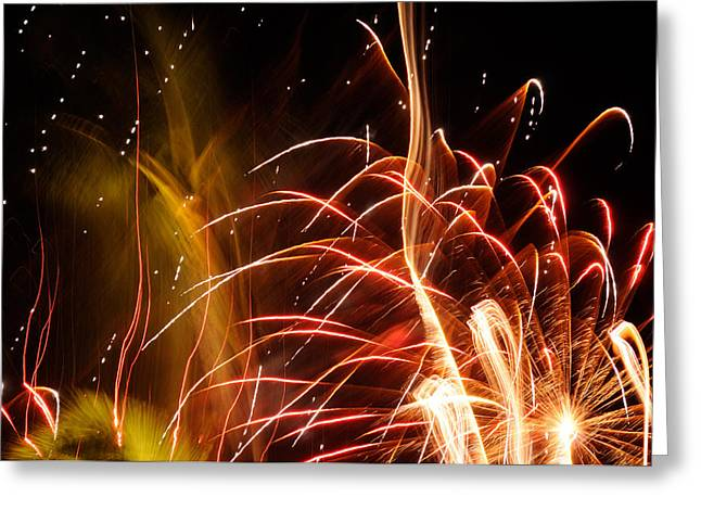 Greeting Card featuring the photograph Fireworks Finale  by Haleh Mahbod