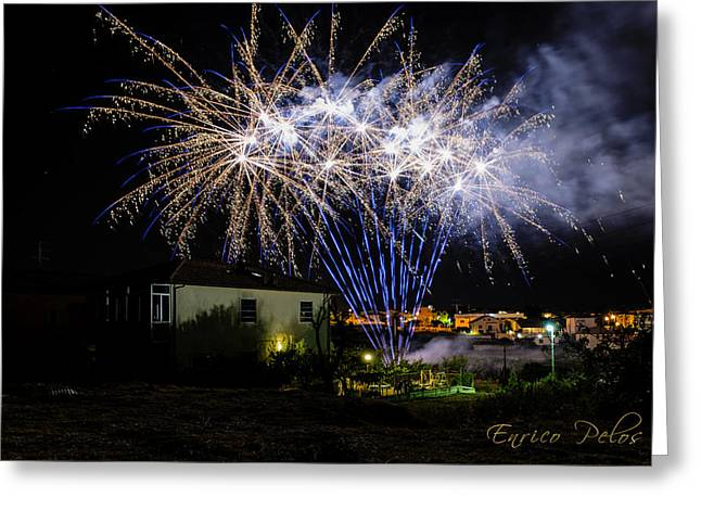 Fireworks In The Garden Greeting Card