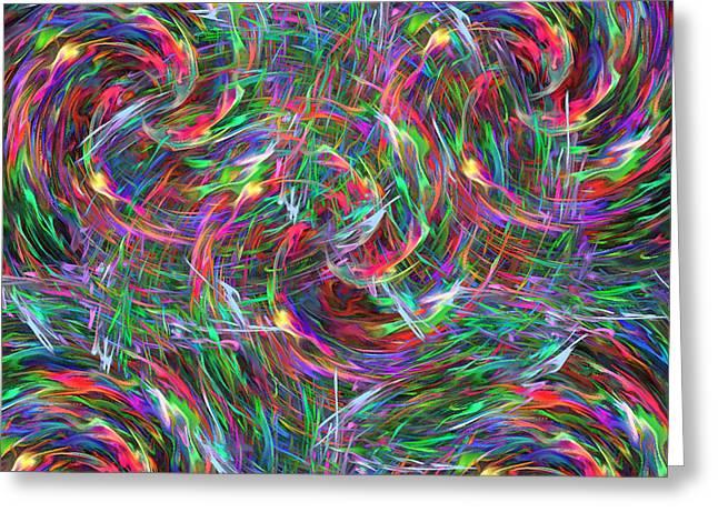 Fireworks Greeting Card by Krazee Kustom