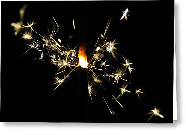 Fireworks Greeting Card by Octavian Scriuba