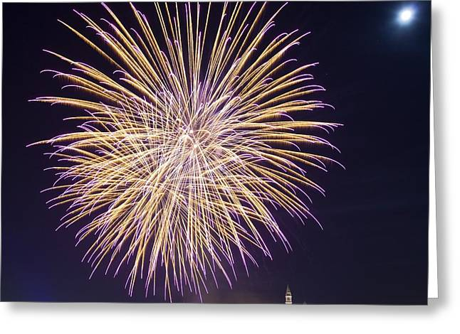 Fireworks Over Venice Greeting Card