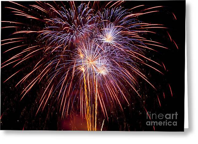 Fireworks Greeting Card by Philip Pound