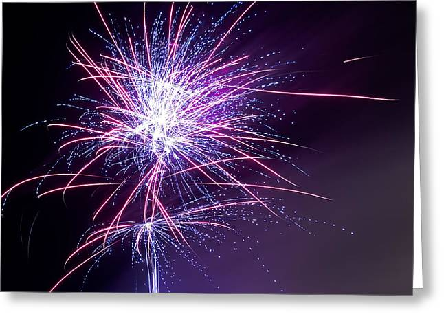 Fireworks - Purple Haze Greeting Card