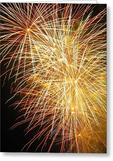 Fireworks Greeting Card by Ramona Johnston