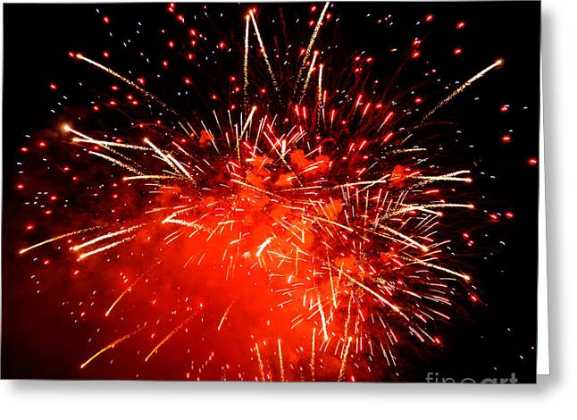 Fireworks Red Greeting Card