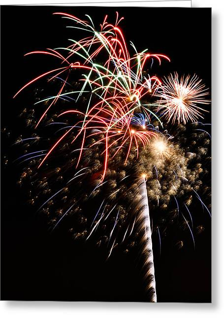 Fireworks Greeting Card by Robert Martinez