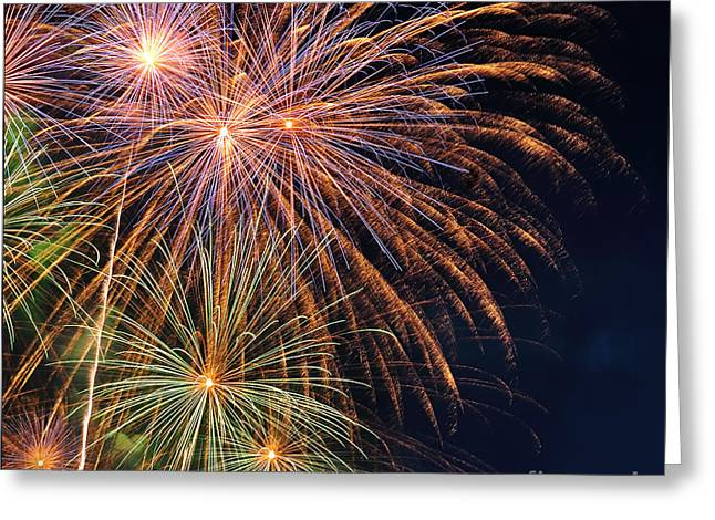 Fireworks - Royal Australian Navy Centenary Greeting Card by Kaye Menner