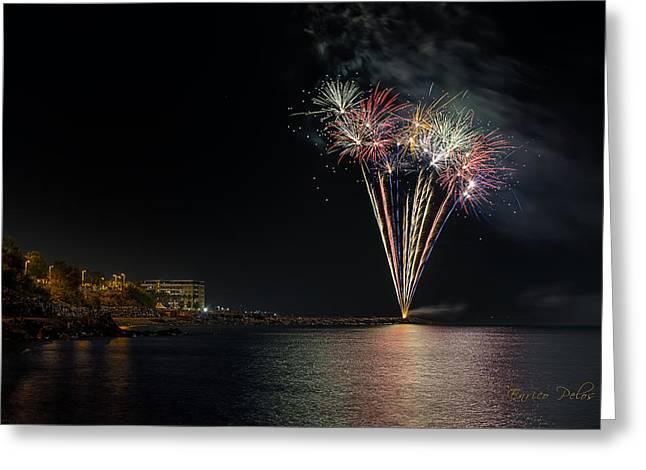 Fireworks San Lorenzo Al Mare 2013 1970 - Ph Enrico Pelos Greeting Card