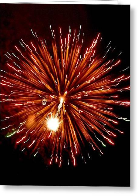 Fireworks Greeting Card by Scott Ware