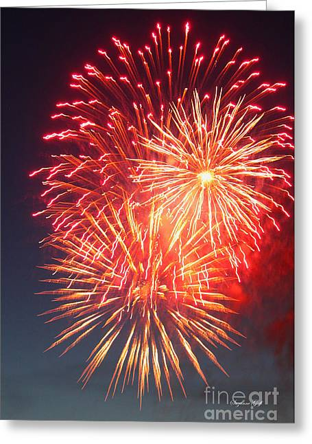 Fireworks Series II Greeting Card by Suzanne Gaff