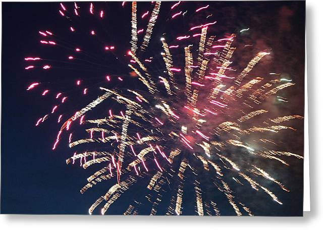 Fireworks Series Xiii Greeting Card by Suzanne Gaff