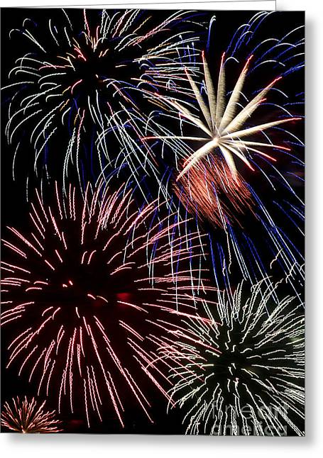 Fireworks Spectacular Greeting Card by Jim and Emily Bush