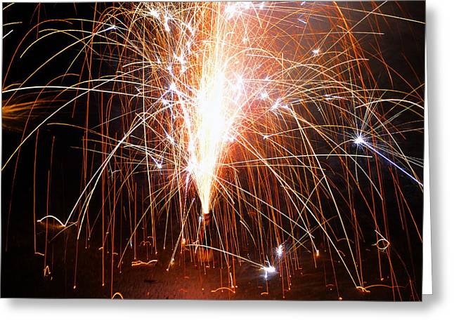 Fireworks Study Number Two Greeting Card by David Lee Thompson