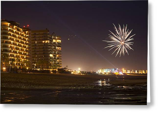 Fireworks  Greeting Card by Wendi Curtis