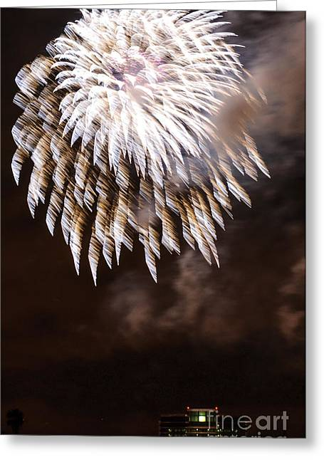 Fireworks White Greeting Card