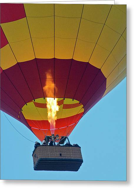 Firing Up, Taking Off, Ballooning Greeting Card