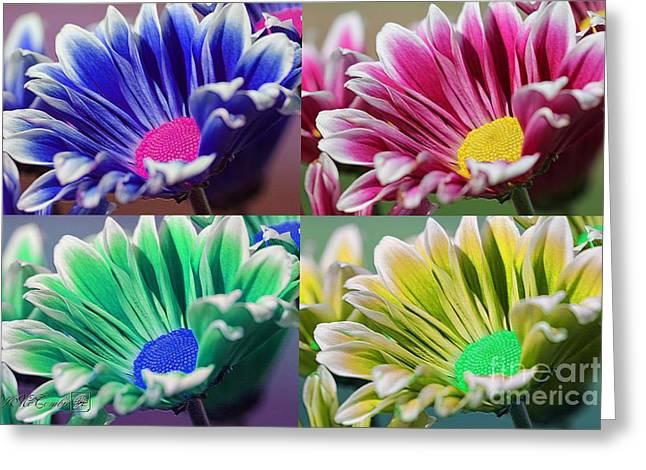 Firmenish Bicolor Pop Art Shades Greeting Card