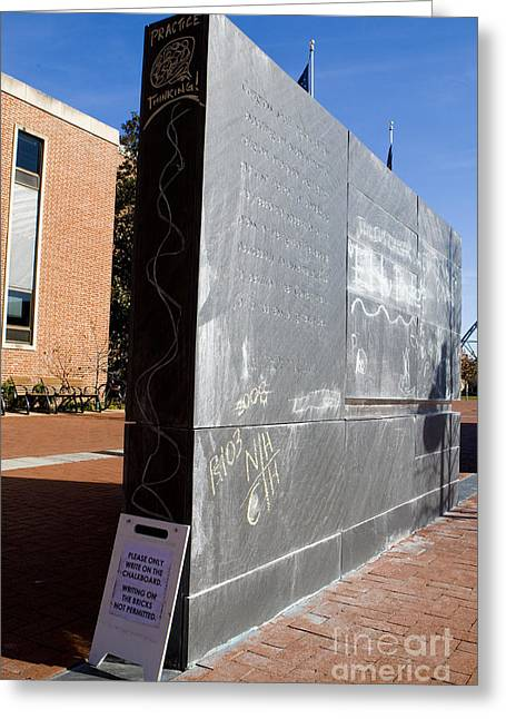 First Amendment Chalk Wall In Front Of City Hall Charlottesville Virginia Greeting Card by Jason O Watson