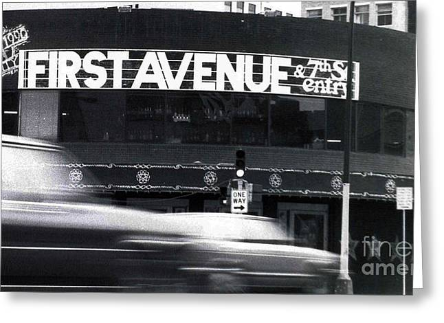 First Avenue Greeting Card by Kip Krause