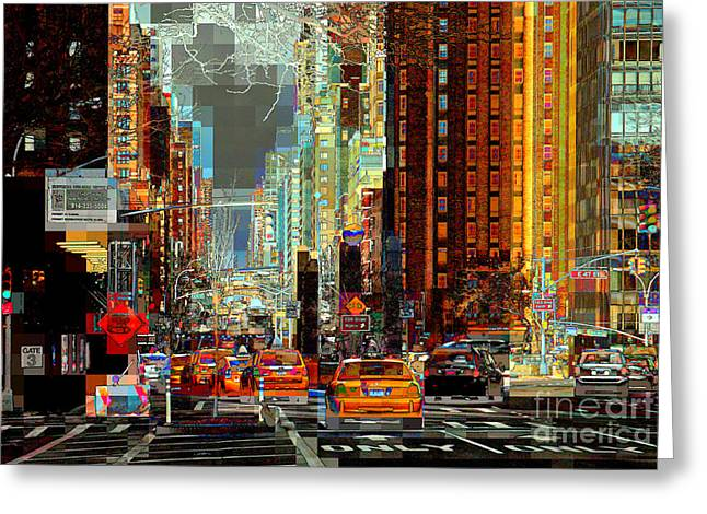 First Avenue - New York Ny Greeting Card