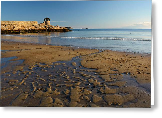 First Beach Sunrise In Rockport Greeting Card