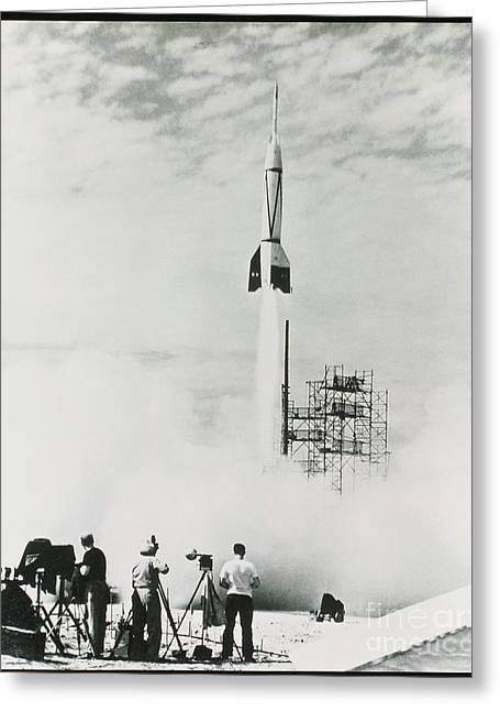 First Cape Canaveral Rocket Launch Greeting Card by NASA Science Source