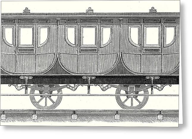 First-class Wagon Greeting Card