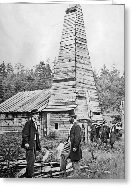 First Commercial U.s. Oil Well, 1859 Greeting Card by Science Source
