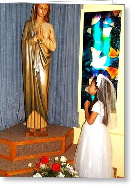 Greeting Card featuring the photograph First Communion---greeting Cards by Saribelle Rodriguez