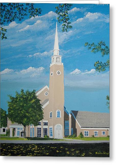 First Congregational Church Greeting Card by Norm Starks